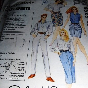 Jeans Sewing Pattern 5 Hour Jeans that fit McCall's 6326 Jeans skirt shorts McCall's 6326
