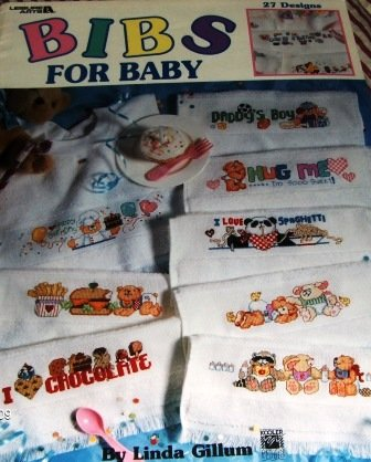Bibs for Baby Cross Stitch Pattern 27 BABY  Bib Designs Leisure Arts