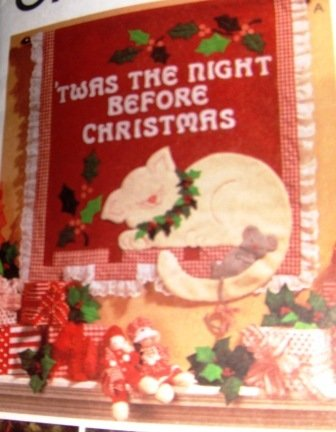 Sewing Pattern Christmas Stockings Ornaments Night Before Christmas Wall Hanging McCall's 8443
