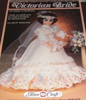 Fibre Craft Victorian Bride Crochet Pattern for 15 inch Fashion Doll