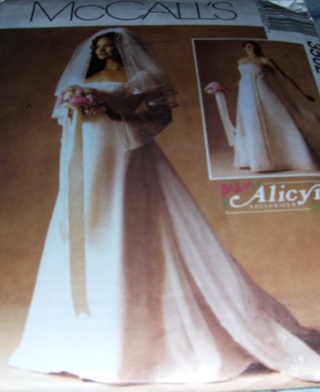 Sewing Pattern Bridal Gown and bridesmaid gown McCall's 3502 Size 6,8,10