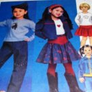 Casual Wear School Girl Jacket skirt, pants and shirt  Sewing Pattern McCall's 3745 Size 6,7,8
