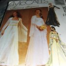 Bridal Gown and bridesmaid gown with flowing sleeves Gothic McCall's 3010 Size 12,14,16