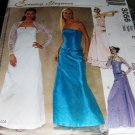 McCall's 3056 Prom Gown Sewing Pattern  Evening Bustier Skirt Shrug Sizes 14,16,18 uncut