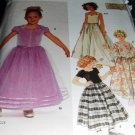 Flower Girl, Jr. Bridesmaid Dress Pattern Simplicity  7000 Size 3,4,5,6 uncut sewing pattern