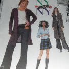 McCall's 3733 Size 3/4 to 9/10  NYNY  uncut Junior Bell Bottom Pants Sweatercoat Skirt Top