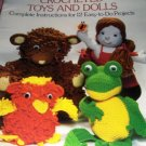 Toys Dolls 12 projects to Crochet Susan Verkest Dover Needlework Series Frog, Bear