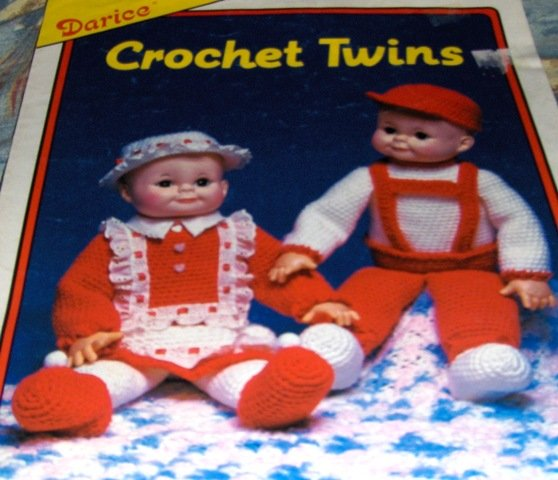 Baby Doll Darice Dolls Crochet Twins Boy and GIrl Dolls Crochet Pattern