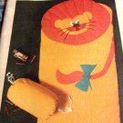 Lion Sleeping Bag Quilted Critter Applique Animal Coverlette Sleeping Bag Children Butterick 5161