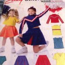 Child Toddler Cheerleading Uniform McCall's 4568 Sizes 7,8,10,12,14 Sewing Pattern Halloween Costume