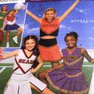Girls Cheerleading Uniform Simplicity 8294 Team Spirit Size 12,14 Sewing Pattern Skirt top