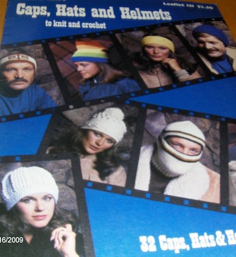 Beanies Caps Hats Helmets Ski Earwarmers 32 Patterns to knit and crochet Leisure Arts 131