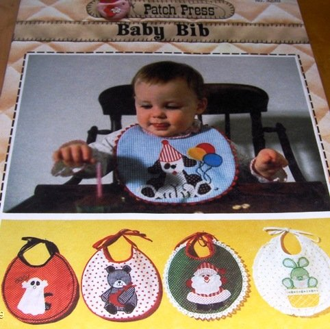Baby  Bib Sewing Pattern for Christmas, Halloween, Easter and Birthday Patch Press Applique pattern