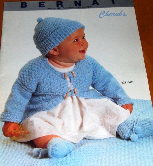 Baby Cherubs Bernat Infant crochet and Knitting Patterns Includes Christening gown crochet pattern