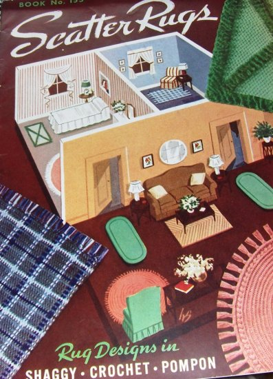 Rug Hooking Scatter Rugs Rug Designs in Shaggy Crochet Pompon Pattern