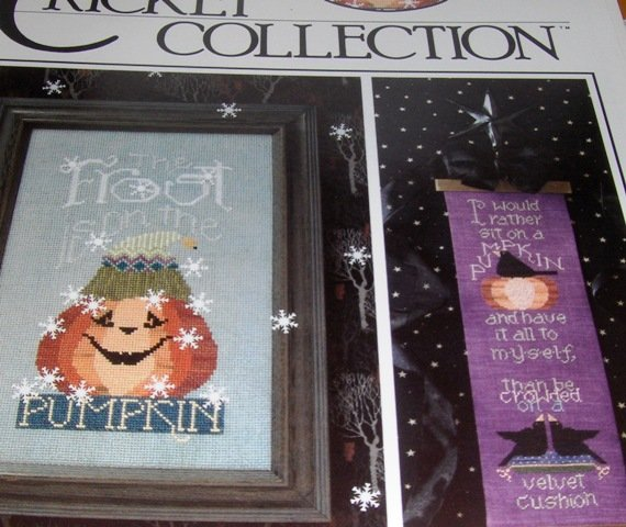 Cross Stitch Pattern The Cricket Collection No. 173 The Frost is on the Pumpkin