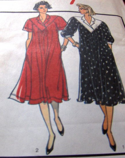 Maternity Pattern for Misses Pullover Dress Size 12 14 16 Style 4591