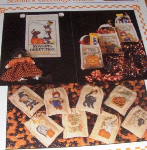Trick or Treat bags Halloween Cross stitch Pattern Season's Greetings Dearie Sugarplum Express