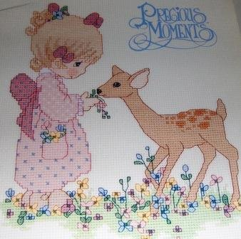 Precious Moments counted cross stitch designs PM30 Love is Kind You are a Blessing to Me