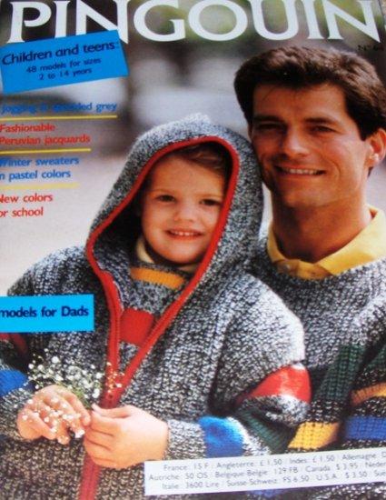Pingouin Child Teens Dads Sweaters,Knitting Patterns No. 64 child sizes 2-14