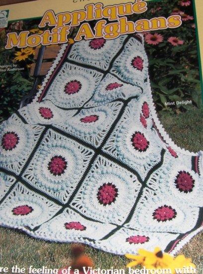 Applique Motif Afghan Crochet Patterns Six Designs House of White Birches