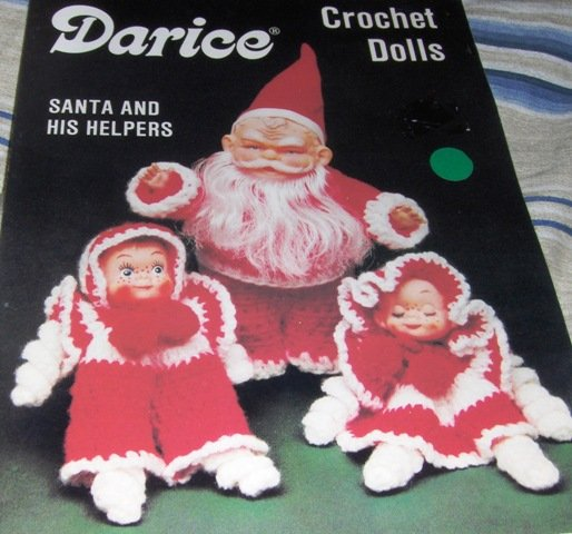 Santa Claus and his helpers doll outfit crochet pattern Darice Crochet Dolls Pattern