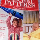 Aran Afghan Herrschners Magazine Crochet Patterns July August 1990 Edgings Baby Crayon Sweater