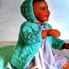 Knitting and Crochet Vintage Pattern Bernat Babies Gown Layettes Afghans Dress