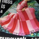 Vintage Afghan Knit Crochet Patterns Brunswick  Plus knit Dress Sweater Skirt pattern