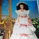 Fibre Craft  Fashion Doll Garden Party Southern Bell gown FCM 268 Thread Crochet Pattern