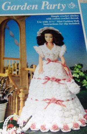 Barbie Fashion Doll Prom Dresses Thread Crochet
