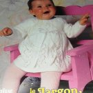 Knitting Pattern Behive Baby Infant Knitted Girl's Dress Boy's Sailor suit BABY TALK