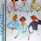 Sewing Pattern Set of Blouses Necklines with ties McCall's 5459 Size 10 UNCUT