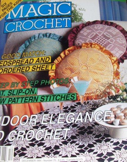 Magic Crochet Pattern Magazine Number 75 December 1991 Bedspreads Pillows