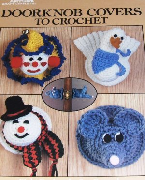 Crochet Pattern Door knob Covers Christmas Wreath Easter Bunny Turkey Clown Snowman