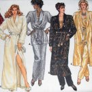 Butterick 3547 Sewing Pattern Misses Lounging Robe Jacket Pajama Pants Size 8 10 12