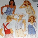 McCall's Sewing Pattern Summer Top Lined with strap variations Number 7667 Size 14,16,18