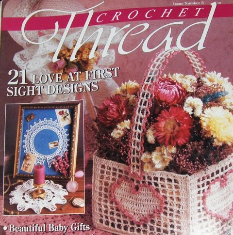Crochet Gifts Magazine : ... Magazine Issue 3 Crocheted Basket, Filet crochet doily, baby gifts