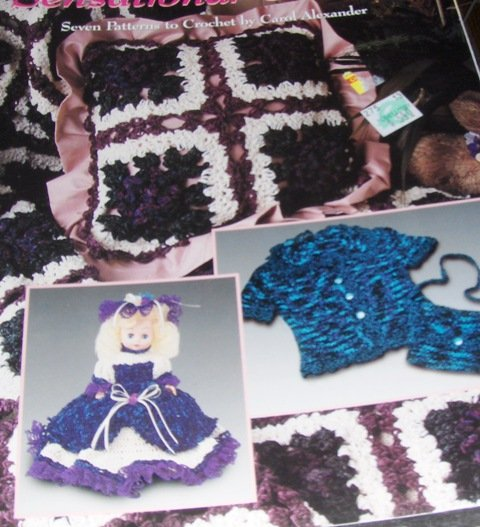 Crochet Pattern Chenille Yarn Pattern Pillow, Afghan, Purse, Doll ...