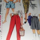 Vintage shorts Sewing Pattern Girl's size 14 Bermudas  Pedal Pushers Slacks 1955 Simplicity 1128