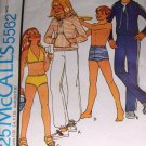 Girls Boys Swimsuit Pants Top pattern McCall's 5562 Stretchable Knits Size 8 (wiki)