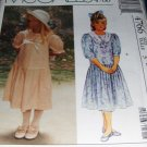 Girls' Laura Ashley Dress Pattern McCall's 4766 Size 3 Dropped Waist