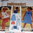 Toddler Dress, shorts top capri pants Simplicity Pattern 7150 Size 2,3,4 plus backpack pattern