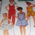 Children's Dress and Jumpsuit Sewing Pattern Butterick 6353 Size 2 3 4