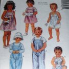 Toddlers's Jumper Overalls Romper Shortie McCall's 4756 Size 3 Sewing Pattern
