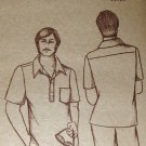 Vintage Pauloa Hawaiian Sewing Pattern Men's Tapered short sleeve shirt Size chest 34 to 48 7002