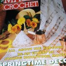 Magic Crochet Pattern Magazine Number 95 April 1995 Doilies, Knit and Crochet Top, Tablecloth