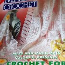 Magic Crochet issue 93 Crochet 33 Projects Oval Mats Filet Crochet Doilies Tablecloths