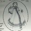 Doll Pattern baby doll 23 to 25 inch Infants Christening dress nightgown 1900 to 1930