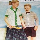 Vintage Knitting Pattern Childrens Classics to Knit sizes 4-14 Boy or Girl styles